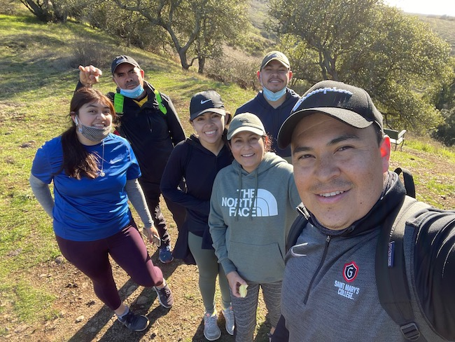 our town st helena: Victor Almanza and his family love to go hiking together