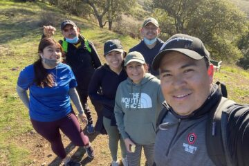 our town st helena: Victor's family loves to go hiking together