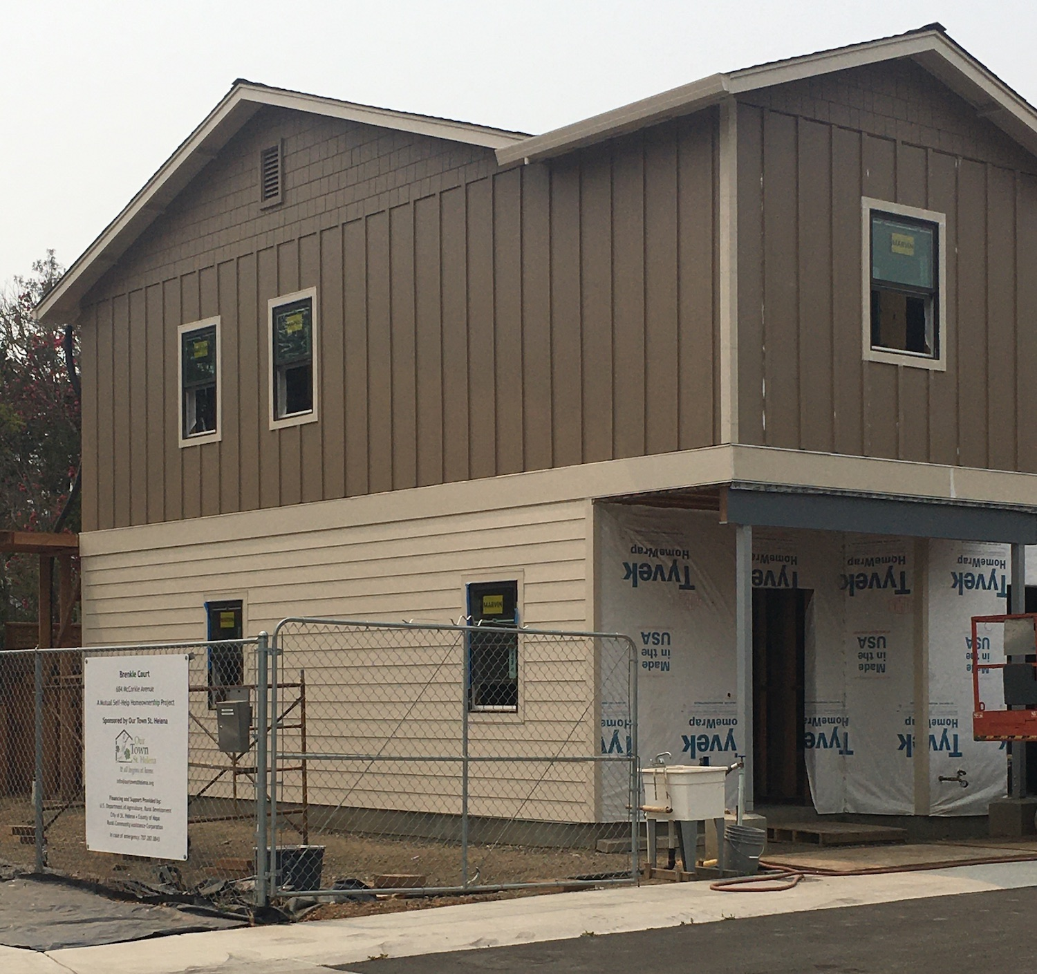 our town st helena progress on Brenkle Court
