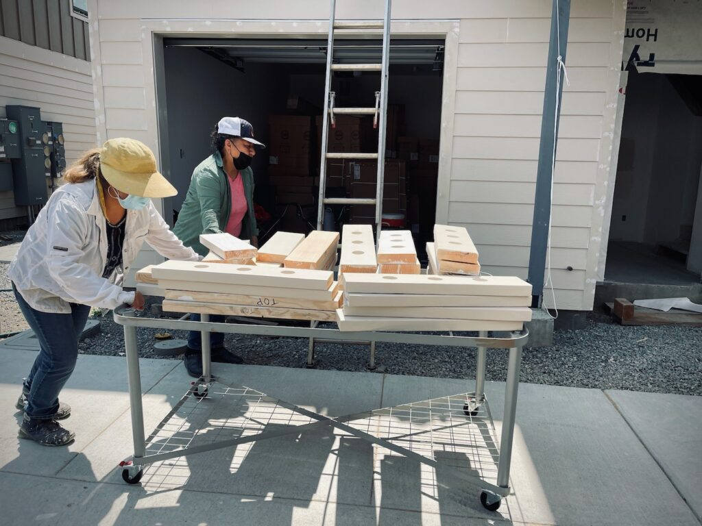 our town st helena: Brenkle Court women at work